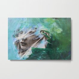 loose yourself in the green wind Metal Print