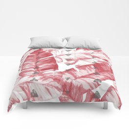 Dusty Rose Tropical Banana Leaves Arrows Design Comforters