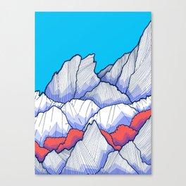 The Ice White Rocks Canvas Print