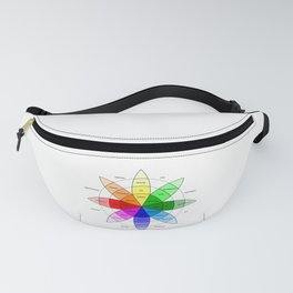 Love and Emotion Valentines Color Wheel Fanny Pack