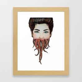Octoface Framed Art Print