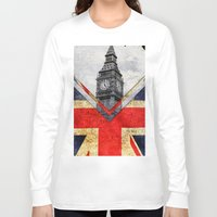 uk Long Sleeve T-shirts featuring Flags - UK by Ale Ibanez
