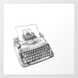 Typewriter Font Canvas Prints | Society6