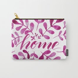 Watercolor home foliage - pink Carry-All Pouch