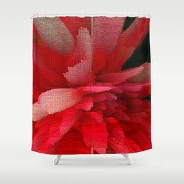 Brigth Red Flower Shower Curtain
