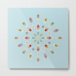 "Mandala ""Abstracted Boats"" Metal Print"