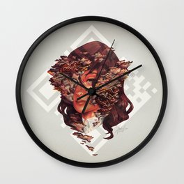 Medusoid mycelium Wall Clock