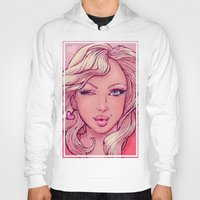 blondie Hoodies featuring Hello Blondie! by JuicyBomb