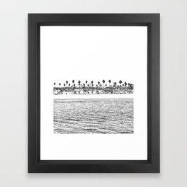 Vintage Newport Beach Print {4 of 4}   Photography Ocean Palm Trees B&W Tropical Summer Sky Framed Art Print
