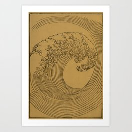 Vintage Golden Wave Art Print