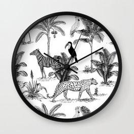 botanical jungle Wall Clock