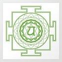 Sri Yantra Heart Chakra by iamcosmosis