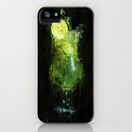 Painted green lime cocktail iPhone Case