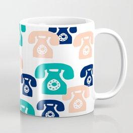 You rang? // 1950s Phone Pattern Coffee Mug