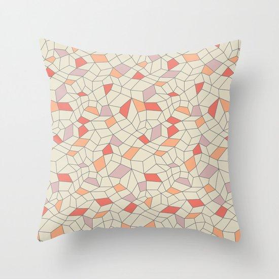 mod colorblock mesh Throw Pillow