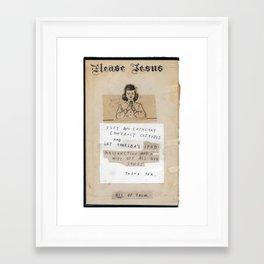 The Jesus Show Framed Art Print