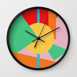 Circle Series - Summer Palette No. 4 Wall Clock