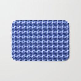 BLUE GEO Bath Mat