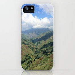 Sunny Valley View In The Mountains of Haiti iPhone Case