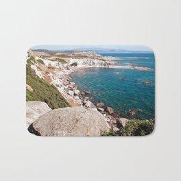 Cliff-Lined Bay - Sardinia - Italy Bath Mat