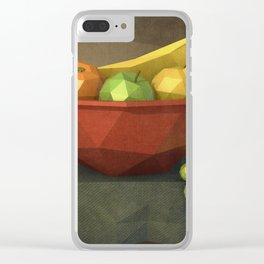 Low-polygon style still life painting Clear iPhone Case