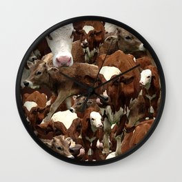 Cows! Wall Clock