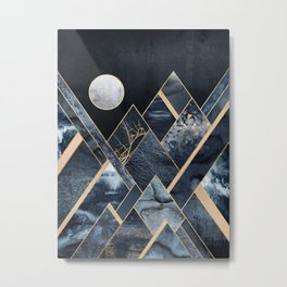 Stormy Mountains Metal Print