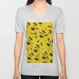 sunflower pattern 2018 1 Unisex V-Neck