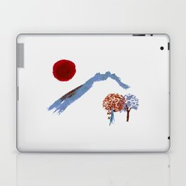 Mountain trees watercolor Laptop & iPad Skin