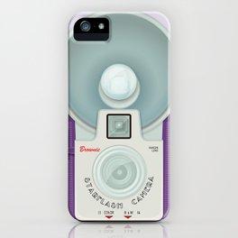 VINTAGE CAMERA PURPLE iPhone Case