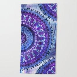 Hydrangea Mandala Beach Towel