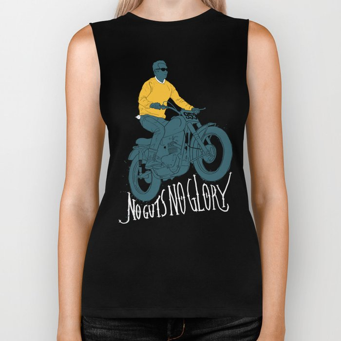 no guts no glory Biker Tank