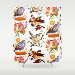 Seasonal Birds Shower Curtain