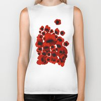 poppies Biker Tanks featuring Poppies by Marina Kanavaki