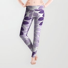 Purple Lavender Flower Burst Petals Floral Pattern Leggings