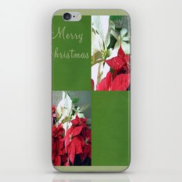 Mixed color Poinsettias 3 Merry Christmas Q5F1 iPhone Skin
