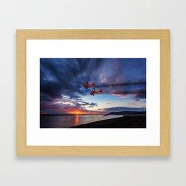 Breitling Wingwalkers Sunset Framed Art Print