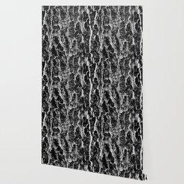 Lava cascade in black and white Wallpaper