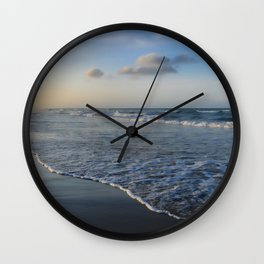 Summer sunset on the beach Wall Clock