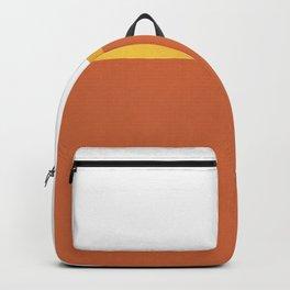 Burnt Orange and Gold Backpack