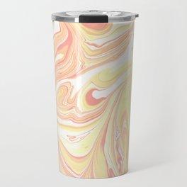 Golden Hour Marble Retro Print Travel Mug