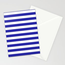 Stripes (Navy & White Pattern) Stationery Cards