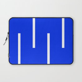 Abstract Minimal Retro Stripes Blue Laptop Sleeve