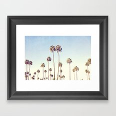 LA Palms Framed Art Print