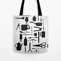 kitchen Tote Bags featuring Kitchen by ValD