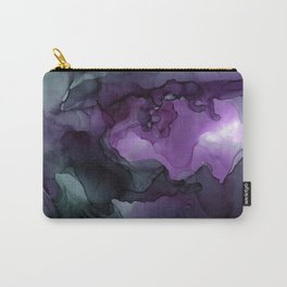 Abstract Ink Painting Deep Purple Green Carry-All Pouch