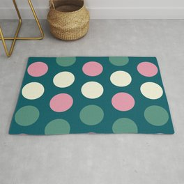 55 Colorful circles - matches 31, 35, 39, 43, 47, 51 patterns Rug