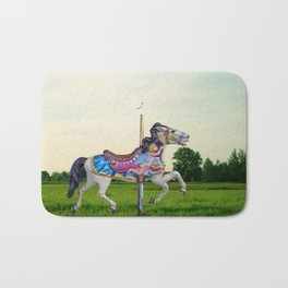 Wood horse Nature Bath Mat
