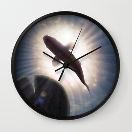 The carp's journey 1 Wall Clock