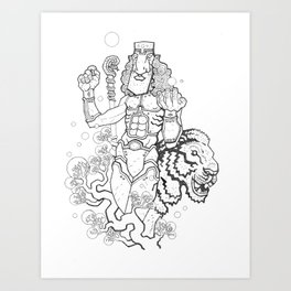 Iron Lion Art Print